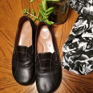Dansko Leather Slip On Comfort Loafers